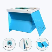 UPCABINET Hidden Shelf Bathroom Waterproof Storage Box, Small Bathroom Multi-Function Foldable Container with Decorative Painting Punch-Free Wall Hanging (White)