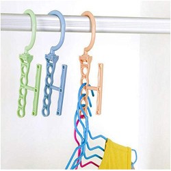 10pcs Random Color Hanger for Clothes Modern Style One Hanger Can Hold 5 Clothing Suit for Clothes Collector and Beautiful Lady Save Wardrobe Space