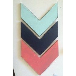 *FREE SHIPPING* Decorative Wood Chevron Arrows (Customizable) - Set of 3 (Hangers included)