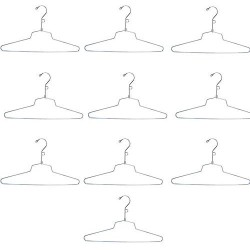"""10 Pc 16"""" Dress Hanger Clothes Display Store Fixture Chrome Finish with Loop"""