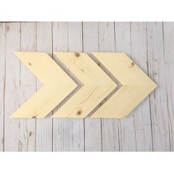 *FREE SHIPPING* Chevron Wood Arrows - Unfinished - Set of 3 (Hangers included).