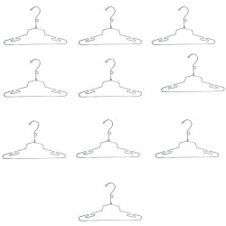 """10 Pc 16"""" Lingerie Hanger Clothes Display Store Fixture Chrome Finish with Loop"""