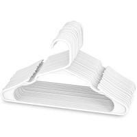 Sharpty White Plastic Hangers, Plastic Clothes Hangers Ideal for Everyday Standard Use, Clothing Hangers (20 Pack)