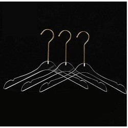 10pcs Acrylic Transparent Clothes Hanger Display Wedding Gown Clear Hanger