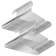 TUXWANG Metal Hangers, 50 Pack Stainless Steel Strong Wire Clothes Hangers-16.5 Inch, Silvery