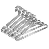JUNING Wire Hangers, 50 Pack Stainless Steel Strong Metal Clothes Hangers-16.5 Inch, Silvery