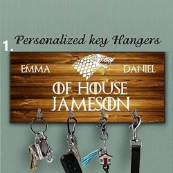 Game of thrones key holder, personalized key hanger, stark key hanger, custom key rack, key holder for wall, Anniversary Gift, Housewarming Gift,stark gift, custom key holder, stark key holder