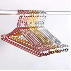 Aluminum Alloy Hanger for Clothes Space Aluminum Rivet Connection Can be Used for 20 Years Non-Slip hangger in Home Storage 10pcs Random Color