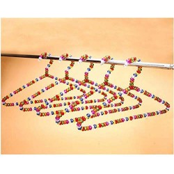 5pcs Adult Pearl Plastic Hanger Colorful Crystal Ball Beautiful Hangers for Clothes pegs Coat Suit Dress Hanger