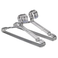 ECROCY 20 Pack Strong Stainless Steel Hangers - 4mm Diameter 17.7 Inch