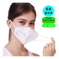 50 Pcs CE FDA KN95 Face Mask, 4-Layer Safety Mask for Blocking Dust Air Pollution, Breathable and Comfortable Health Mask, Filtration Efficiency of Non-oily Particles More than 95%.