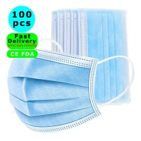 CE FDA Medical Mask 100 Pcs Disposable Face Masks Disposable Surgical Mask Dust Breathable Earloop Antiviral Face Mask, Comfortable Medical Sanitary Surgical Mask Thick 3-Layer Masks