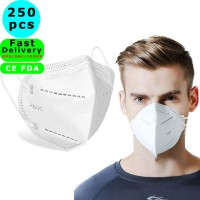 250pcs K N95 Medical Face Masks - 4-Layer K N95 Dust Full Face Mask with Free Adjustable Headgear Filtration Barrier against Germ, Dust, Breathable Respirator Mask