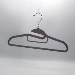 1 Pieces Colorful Non Slip Velvet Clothes Hangers 360 Degree Swivel Hook Strong and Durable Flocked Cloth Velvet Hanger,Sky Blue, with multiple chain metal hook