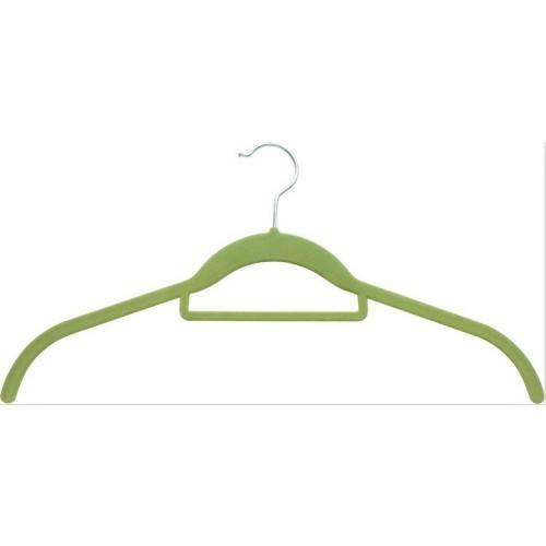 Amazon Velvet Suit Hangers Flocked non-slip velvet plastic clothes hangers