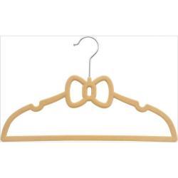 30.5cm Kids Clothes Non-slip Short Velvet Hangers Flocked non-slip velvet plastic clothes hangers