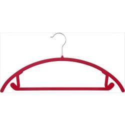 2020 Trendy Velvet Coat Hanger Private Label Custom Flocked non-slip velvet plastic clothes hangers