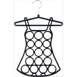 Black metal 16 holes scarf hanger tie hanger Velvet Scarves and Jewelries Holder/Hanger
